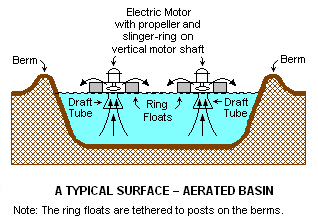 Floating aerators sewage treatment reverse osmosis for Design of oxidation pond ppt